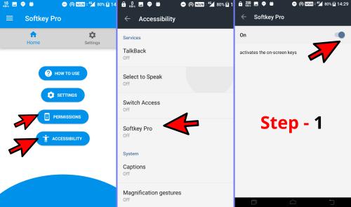 How to use SoftKeys Home Back Button Step 1