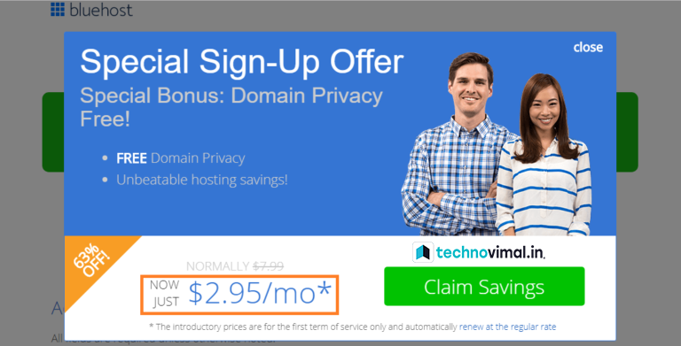Bluehost 63% Off!