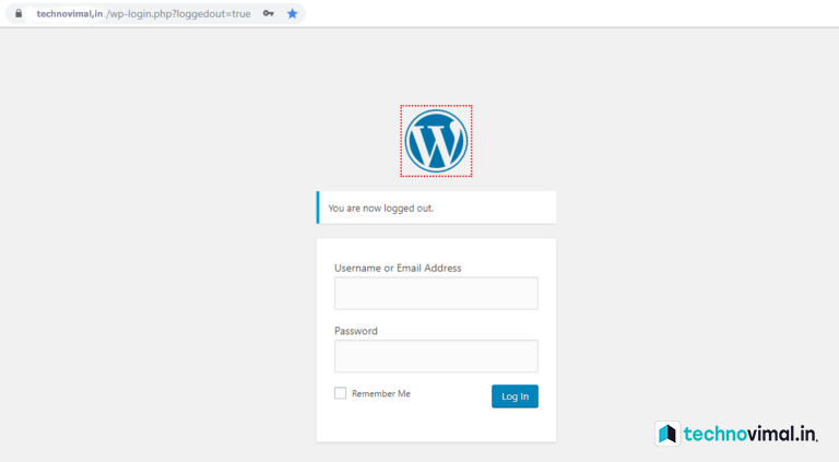 Login WordPress account