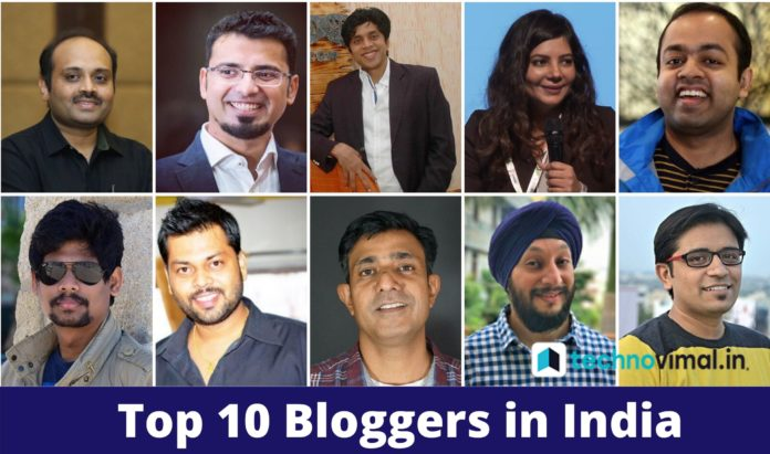 Top 10 Bloggers in India 2020