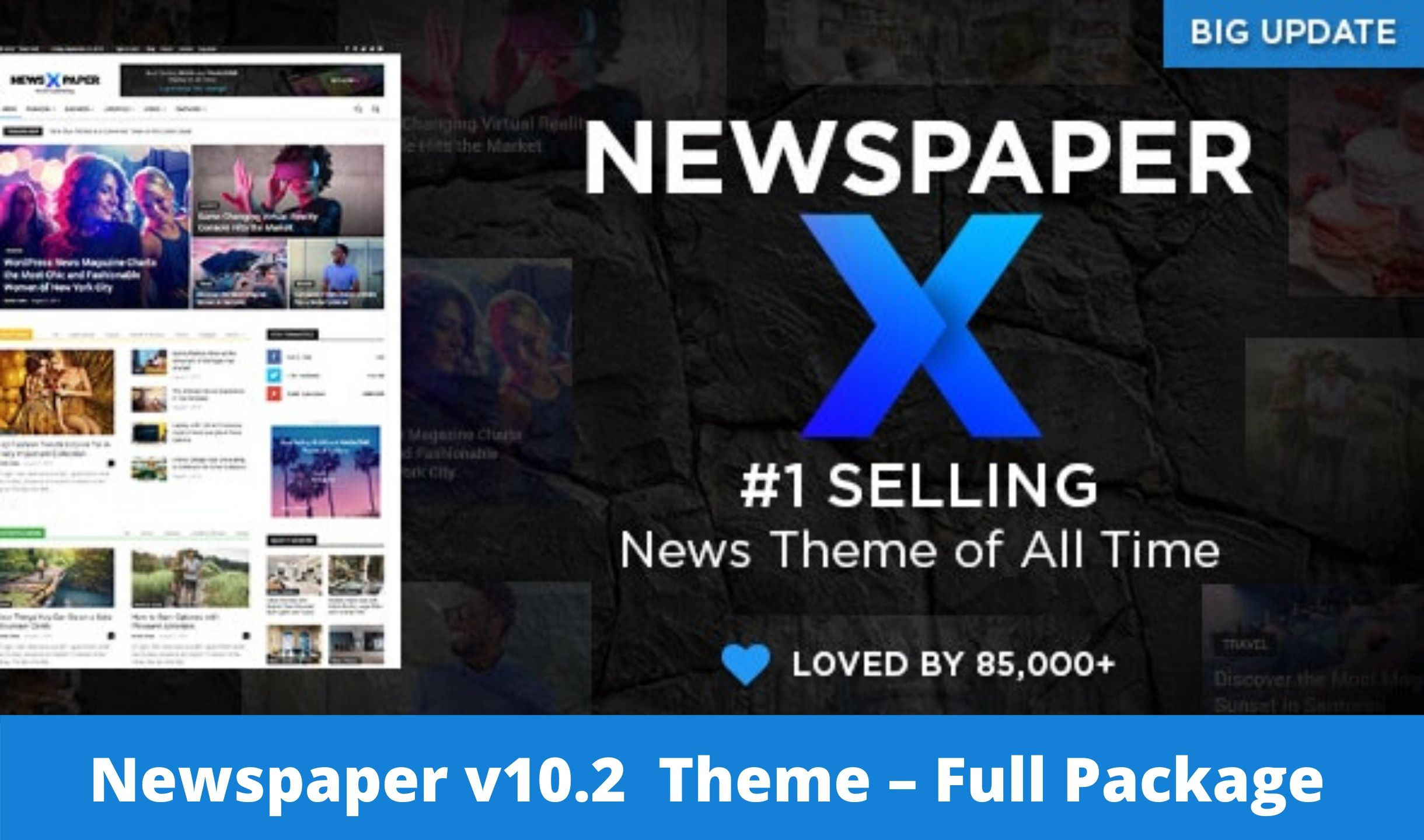 Download Free Newspaper X v10.2 – WordPress News Magazine Theme