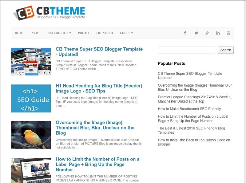 CB Theme Seo Friendly Blogger Template