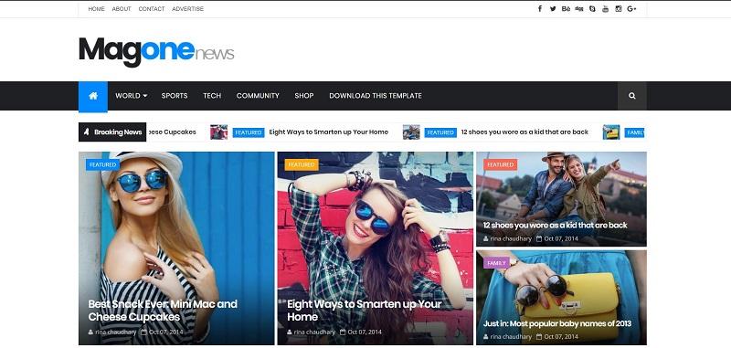 Magone News Responsive Blogger Template