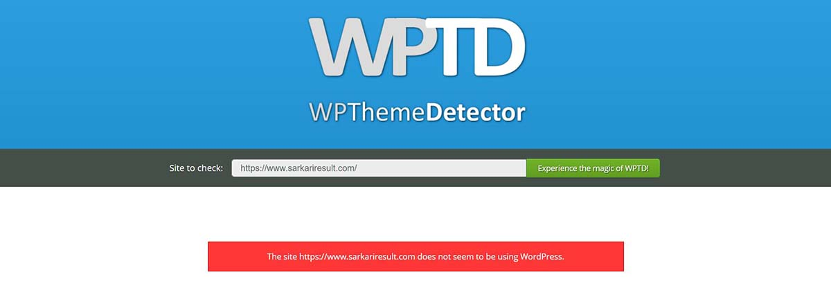 wpthemedetector sarkari result theme download