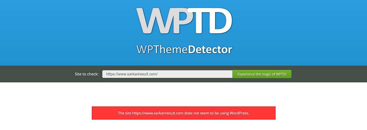 wpthemedetector sarkari result theme download