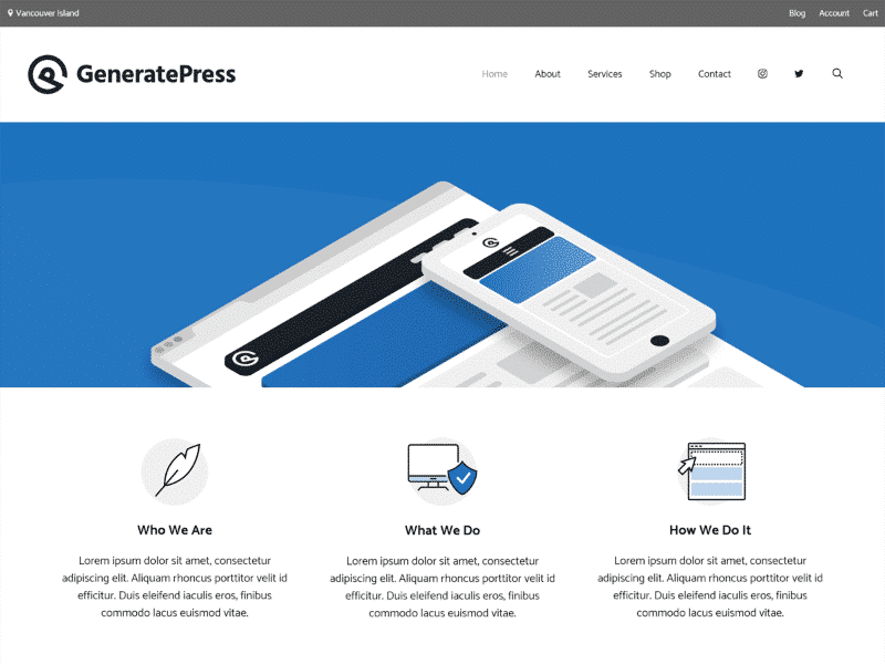 GeneratePress The perfect lightweight theme for your next project.