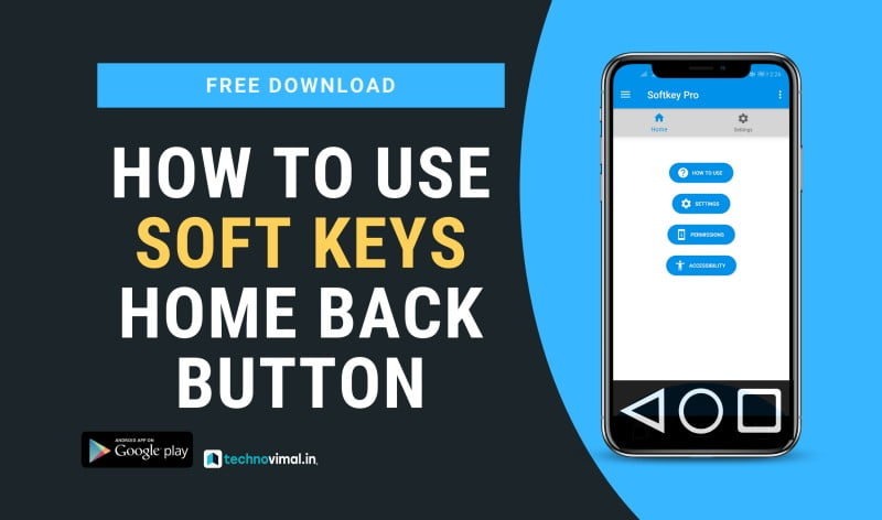 Soft Keys Home Back Button