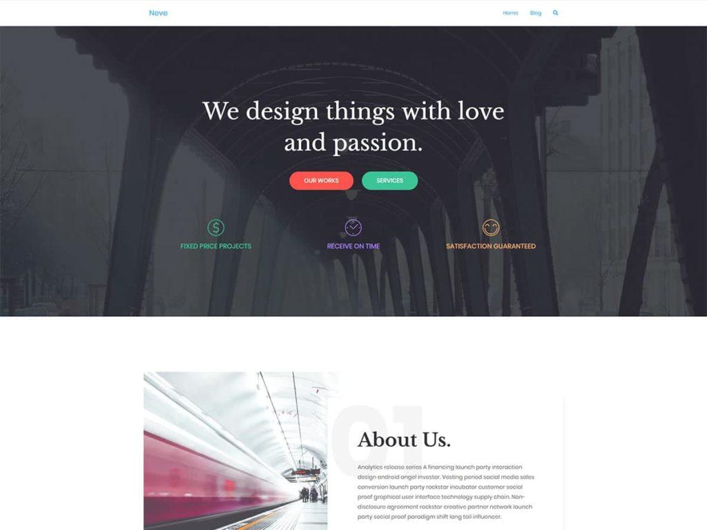 Neve  Free Lightweight WordPress Themes