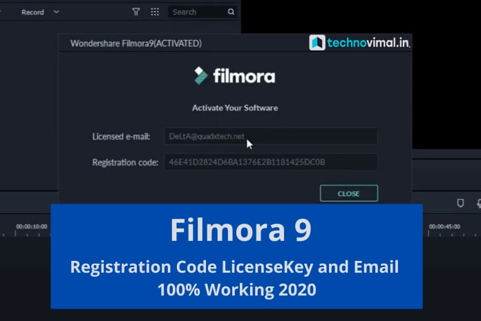 Filmora 9 Registration Code License Key and Email