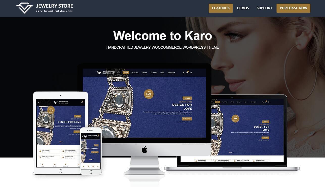 Karo - Jewelry Diamond WooCommerce Download Free Premium WordPress Themes