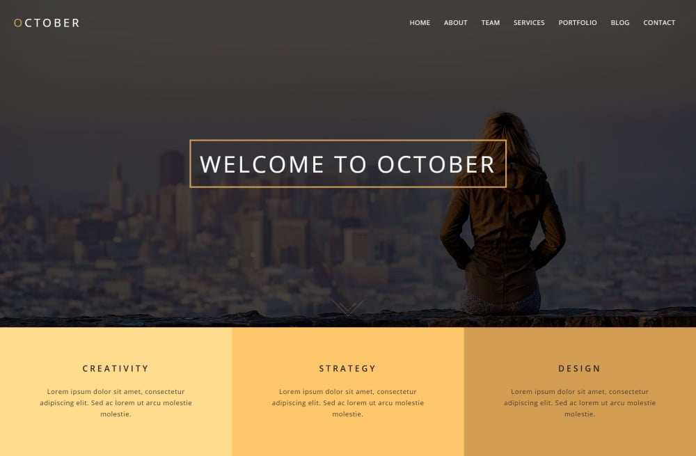 October Download Free Premium WordPress Themes