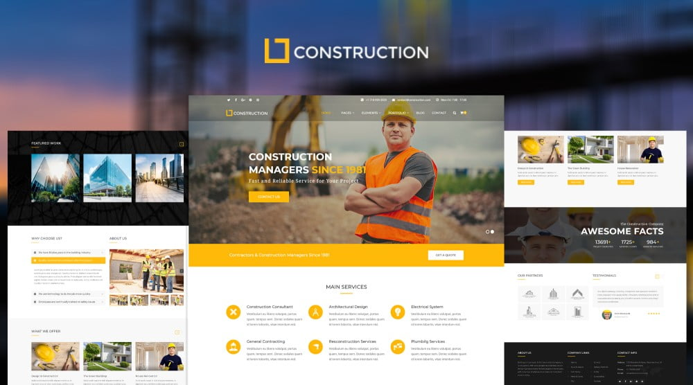 Construction – Business & Building Company Download Free Premium WordPress Themes